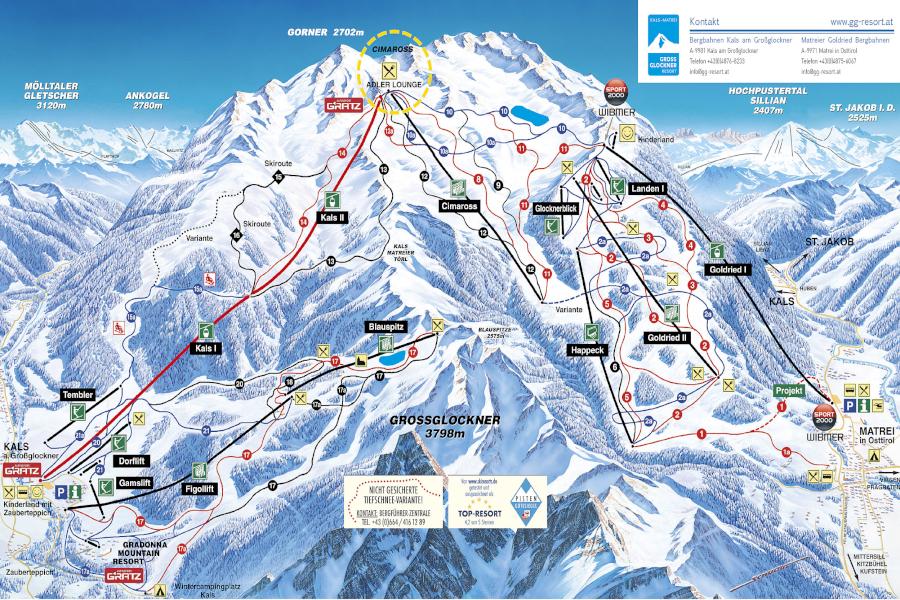 Freizeit - Skigebiet - GG-Resort - Pistenplan
