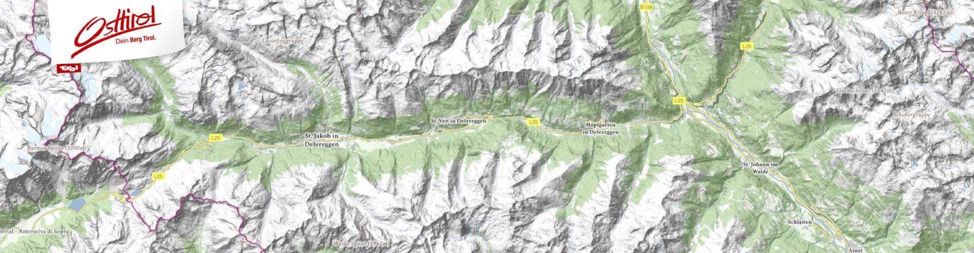 Freizeit - Wandern - Interaktive Karte Osttirol