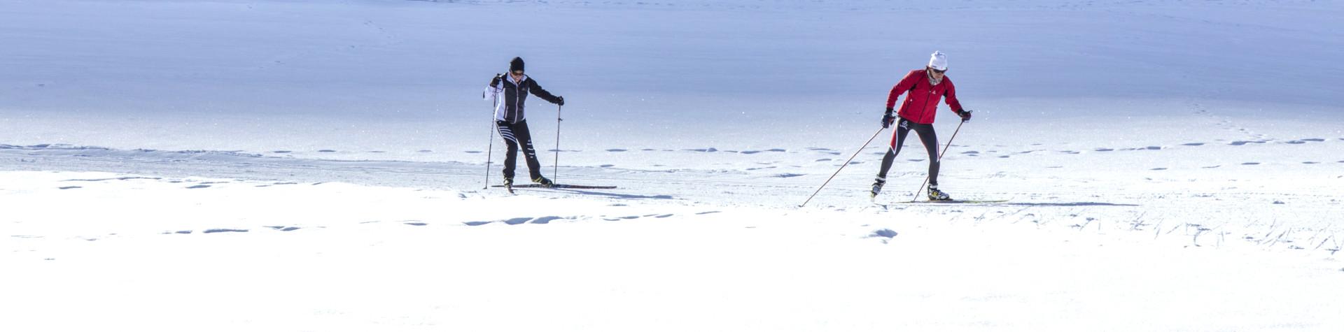 Freizeit - Winter - Langlaufen - Stimmungsbild