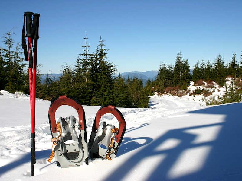 Freizeit - Winter - Schneeschuhwandern - Symbolfoto